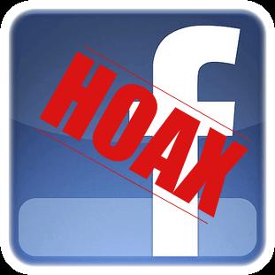 HOAX op facebook